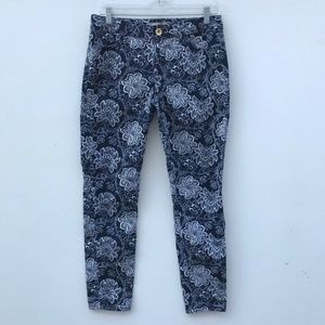 Banana Republic Skinny Ankle Floral Jeans #1096